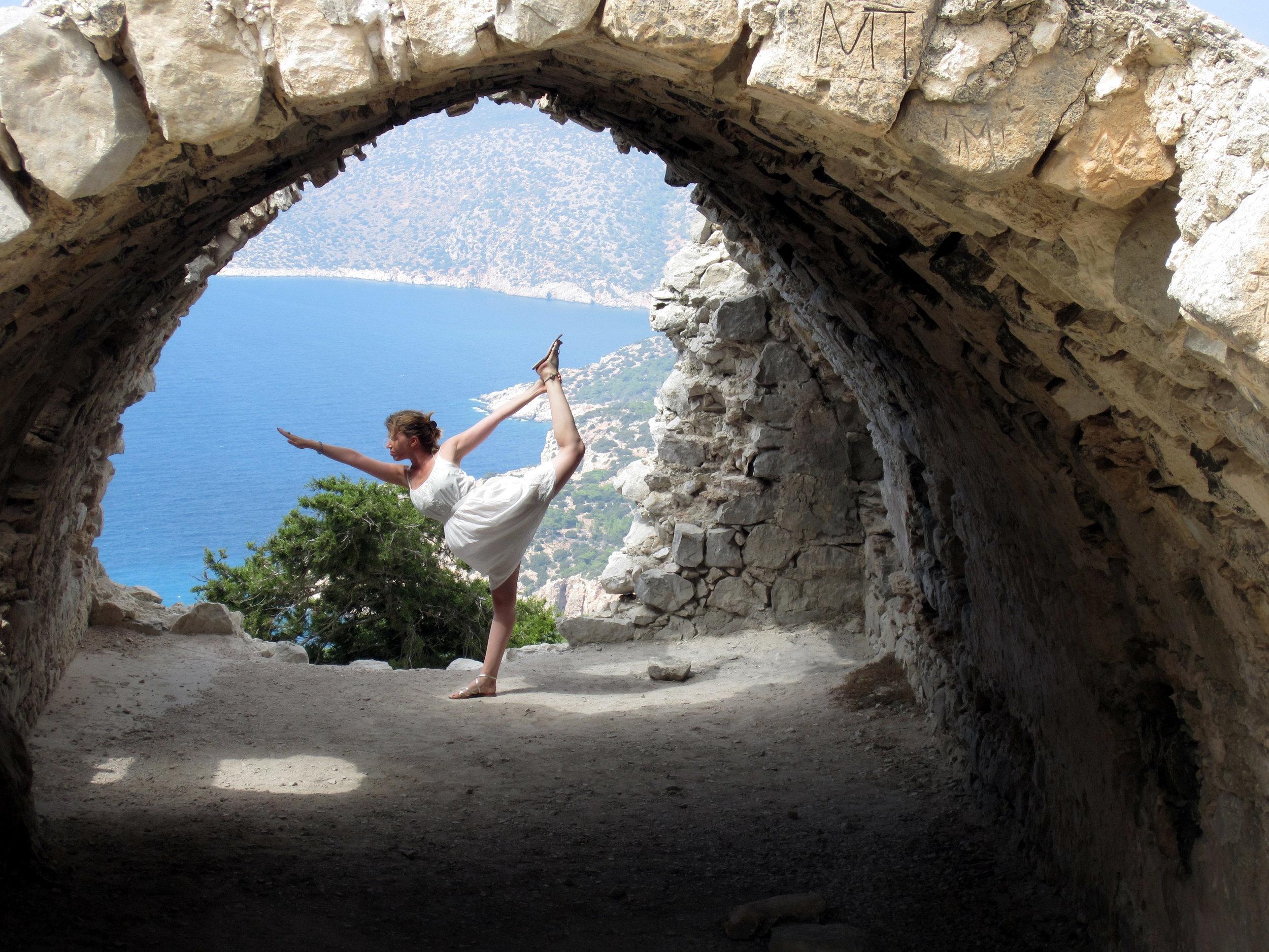 Rhodes Greece Monolethos Castle Yoga