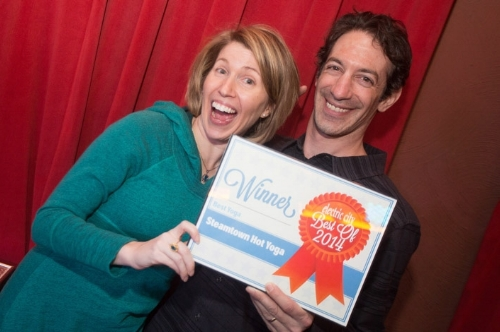 2014 and 2015 Electric City Weekenders Reader's Choice Best Yoga Studio