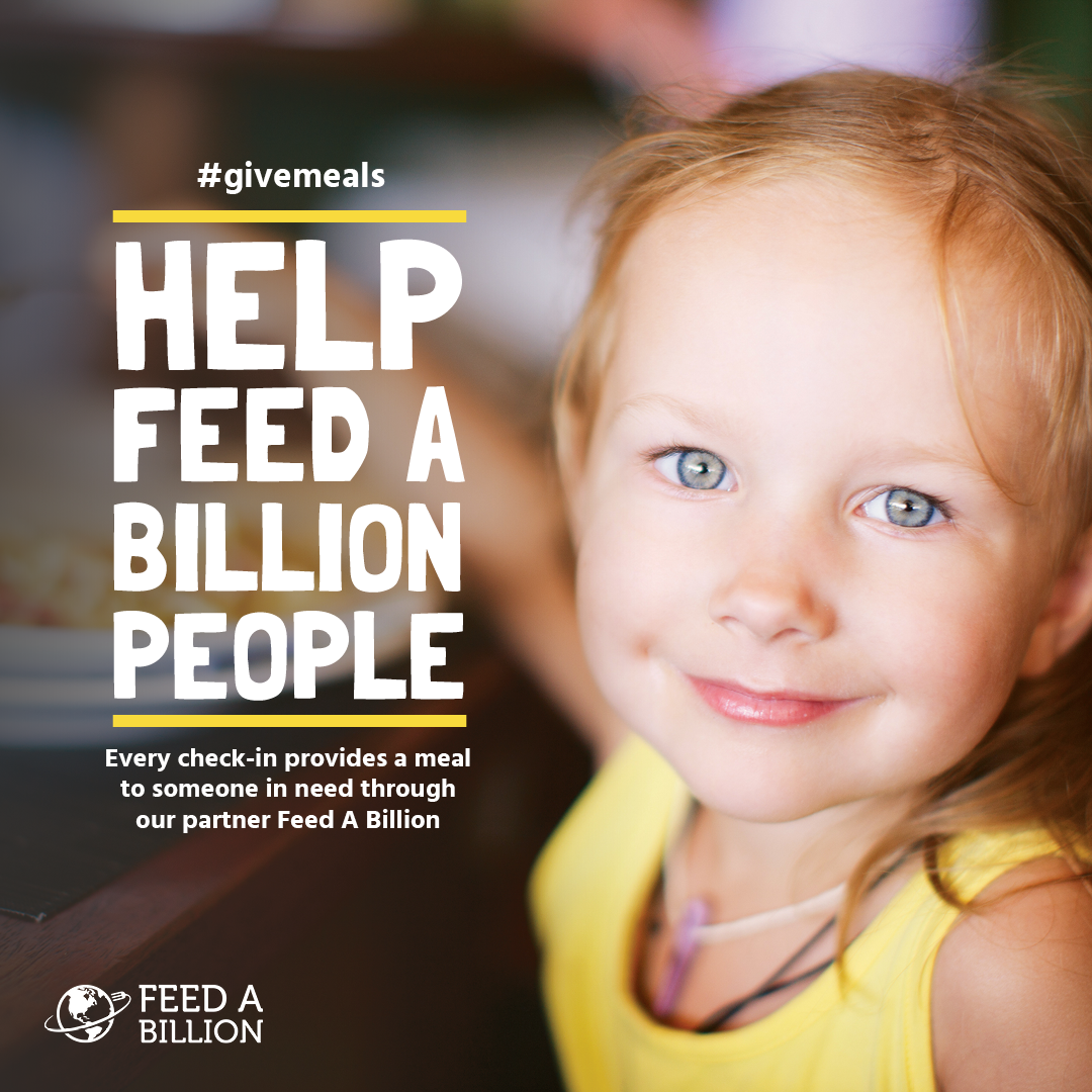 This November, you can help feed a billion people just by checking in on Facebook at Steamtown Yoga. We've partnered with Causely and Feed A Billion to make it possible and every check-in at Steamtown Yoga will provide one meal to someone in need! So don't forget to check in on Facebook or IG each time you visit us. For more information about this month's cause, check out feedabillion.org