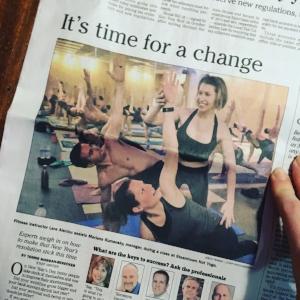 Times Tribune Hot Yoga.JPG