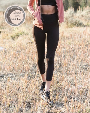 Black Pocket Light n Tight Hi-Rise Capri 2 $59