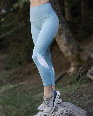 Aqua Melange Light n Tight Hi-Rise Capris