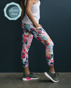 Floral Pocket Light n Tight Hi-Rise Capris 2