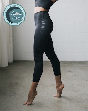 Black ZYIA Light n Tight Hi-Rise Capri 2