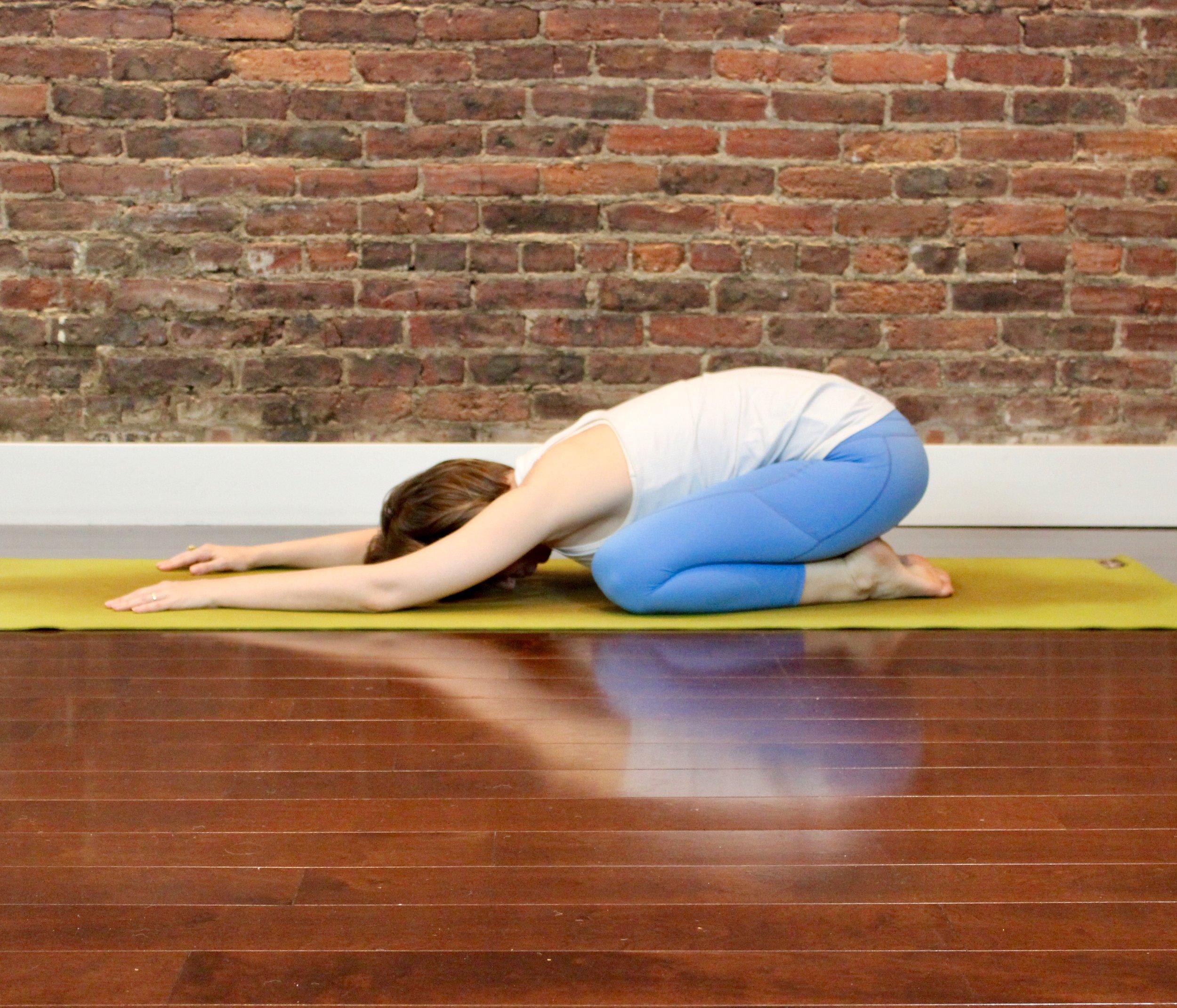 First for Women Mag Yoga Lara Alexiou childs pose.jpg