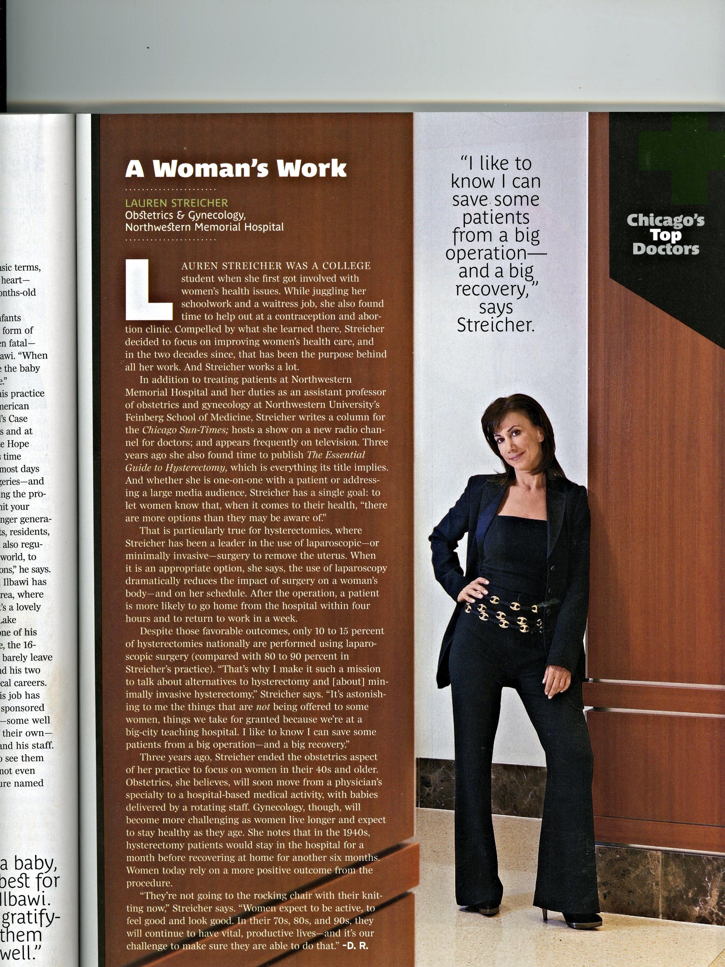 Streicher  Chicago Magazine Top Doctor article.jpg