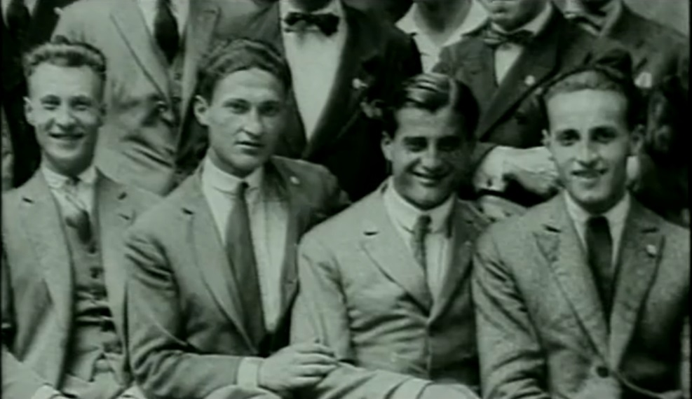 Bl Pier Giorgio (2nd from right) with some friends.
