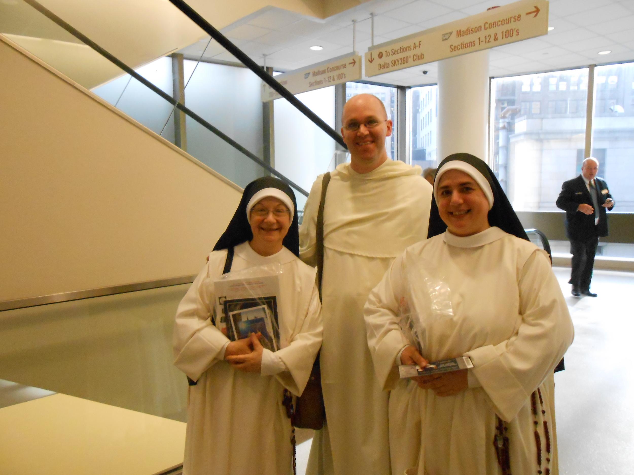 Sr. Denise Marie, Fr. Jonah Pollack, Sr. Mary Catharine