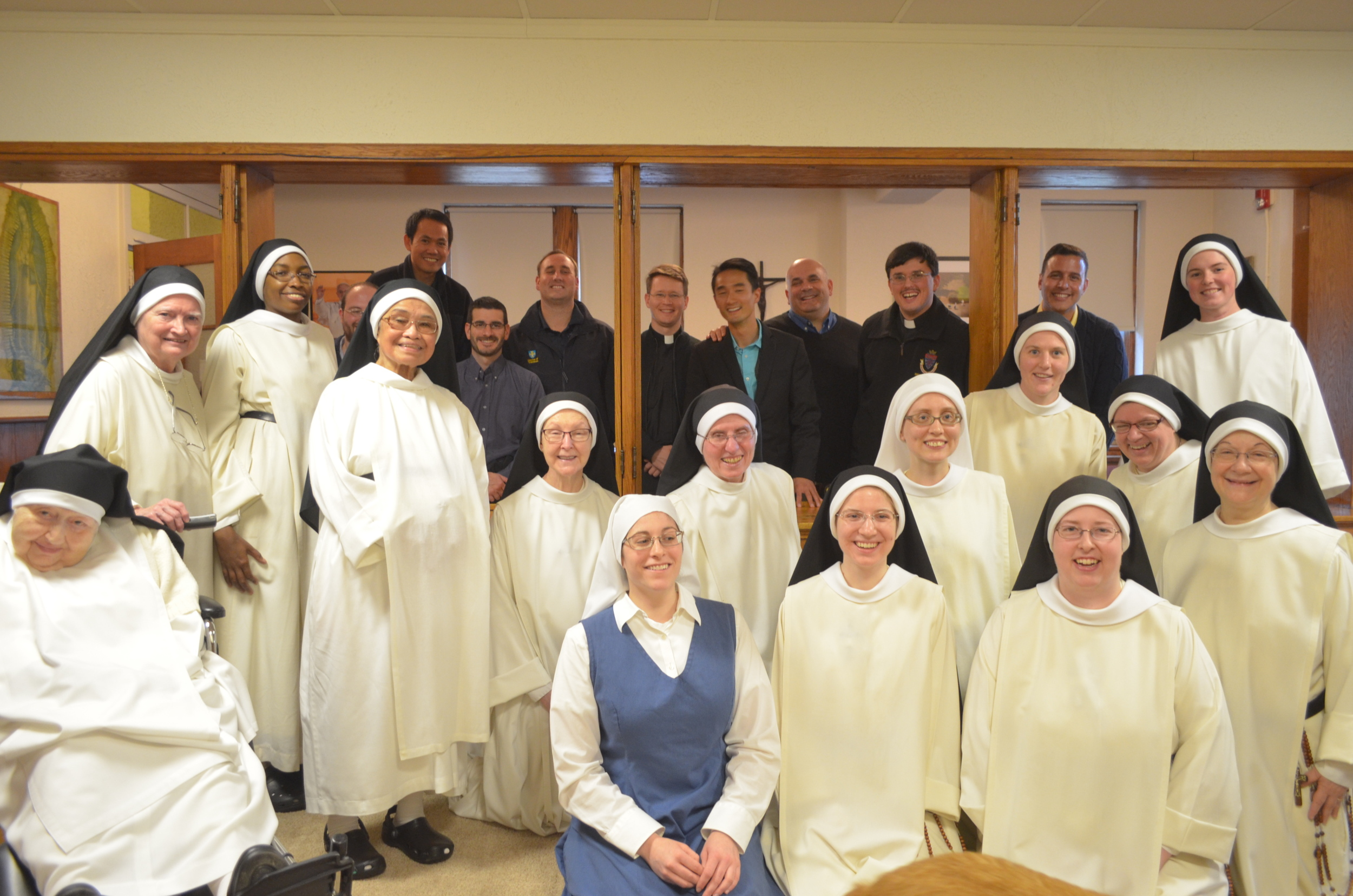 Group picture before Vespers. We  almost fit everyone!