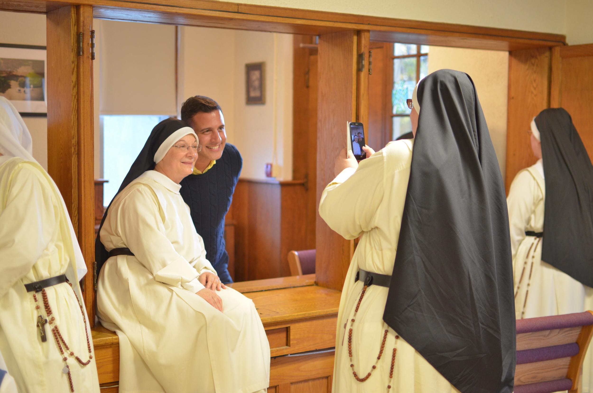 Sr. Denise Marie was overjoyed to finally meet her seminarian!