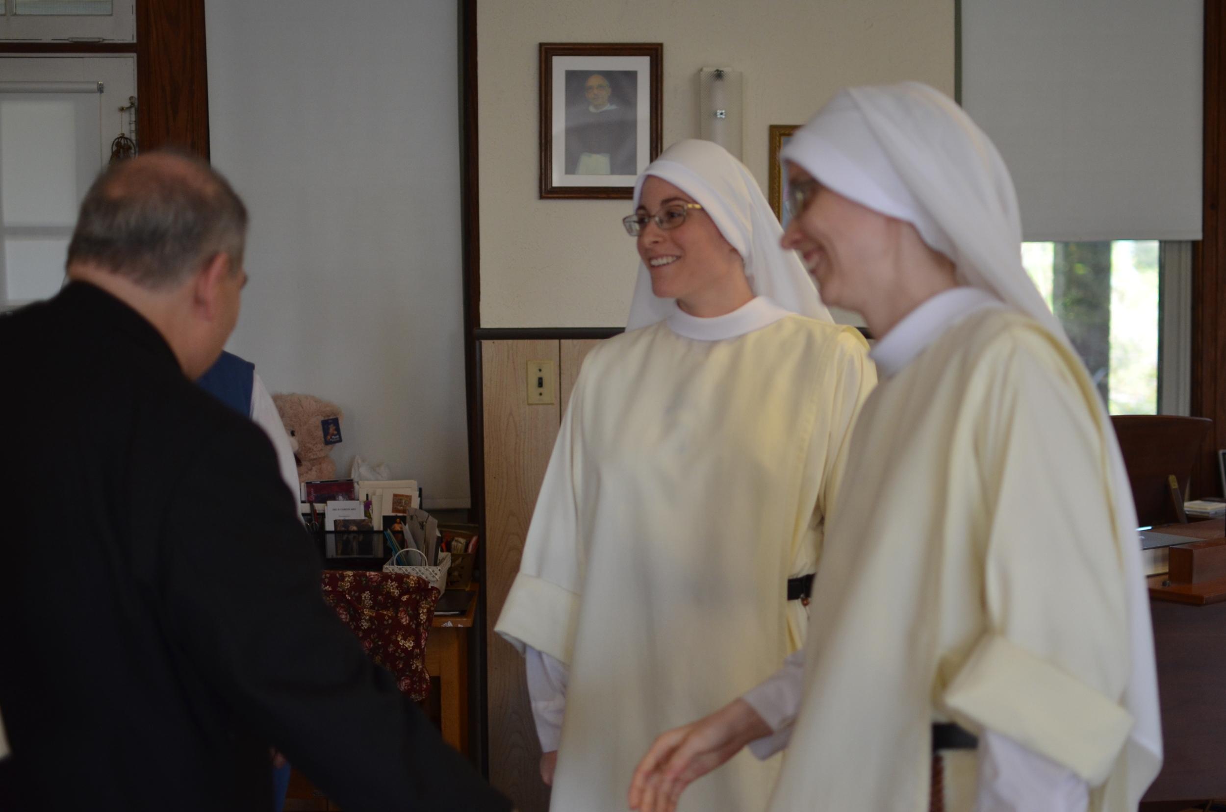 Archbishop Hebda with the novices