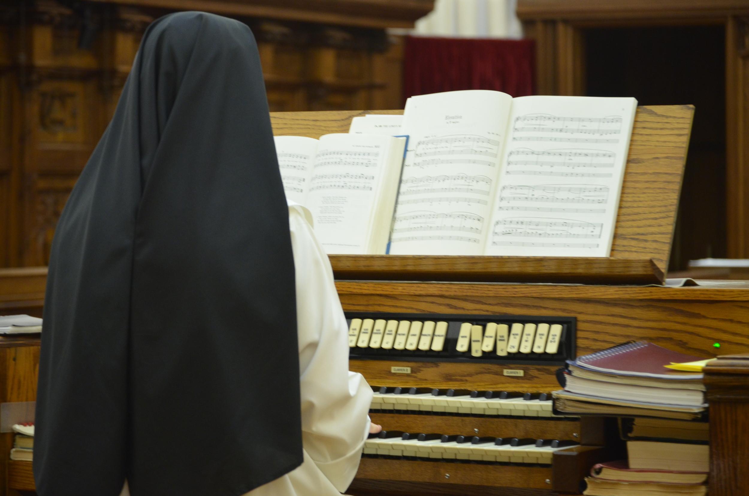 Sr. Mary Veronica at the organ