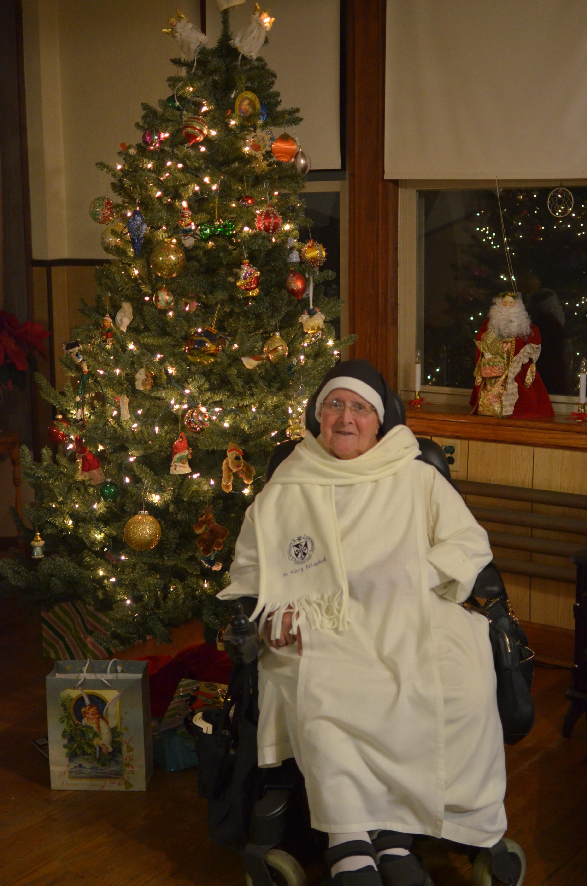 Sr. Mary Elizabeth, Christmas 2015