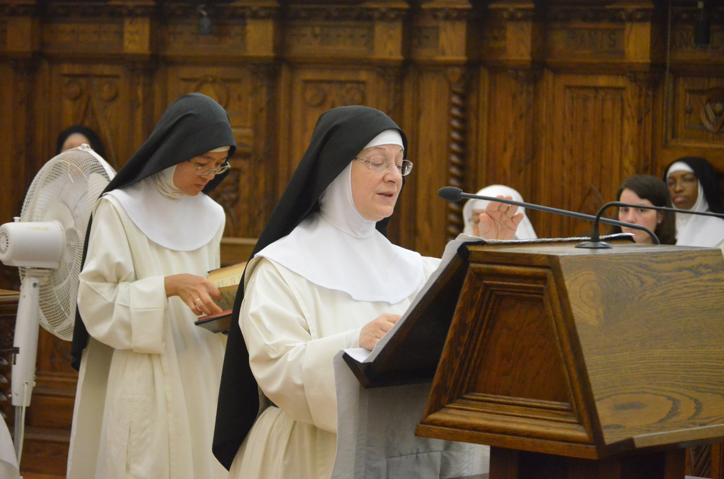 Sr. Denise Marie reads the second reading