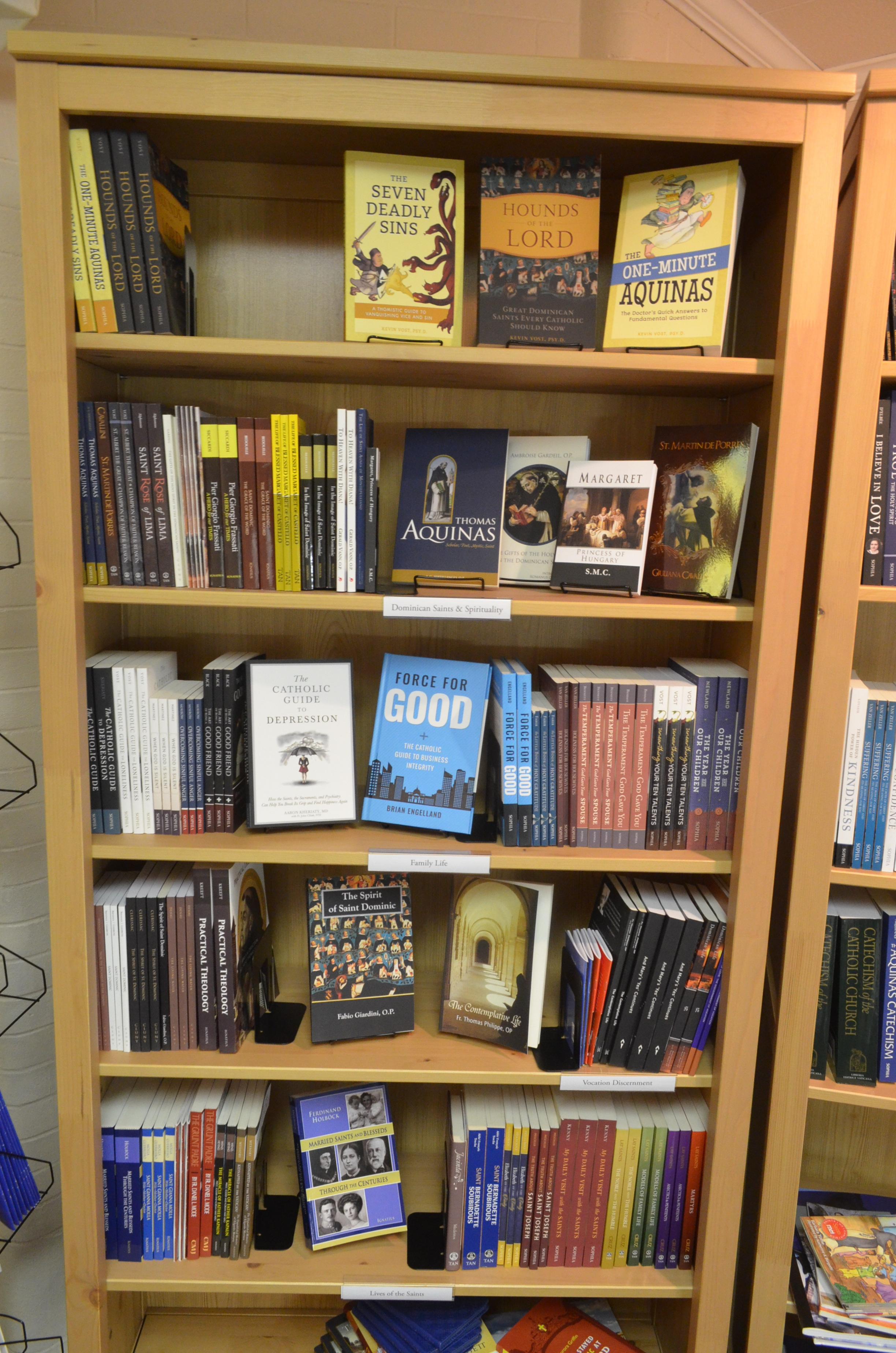 Expanded book selection.