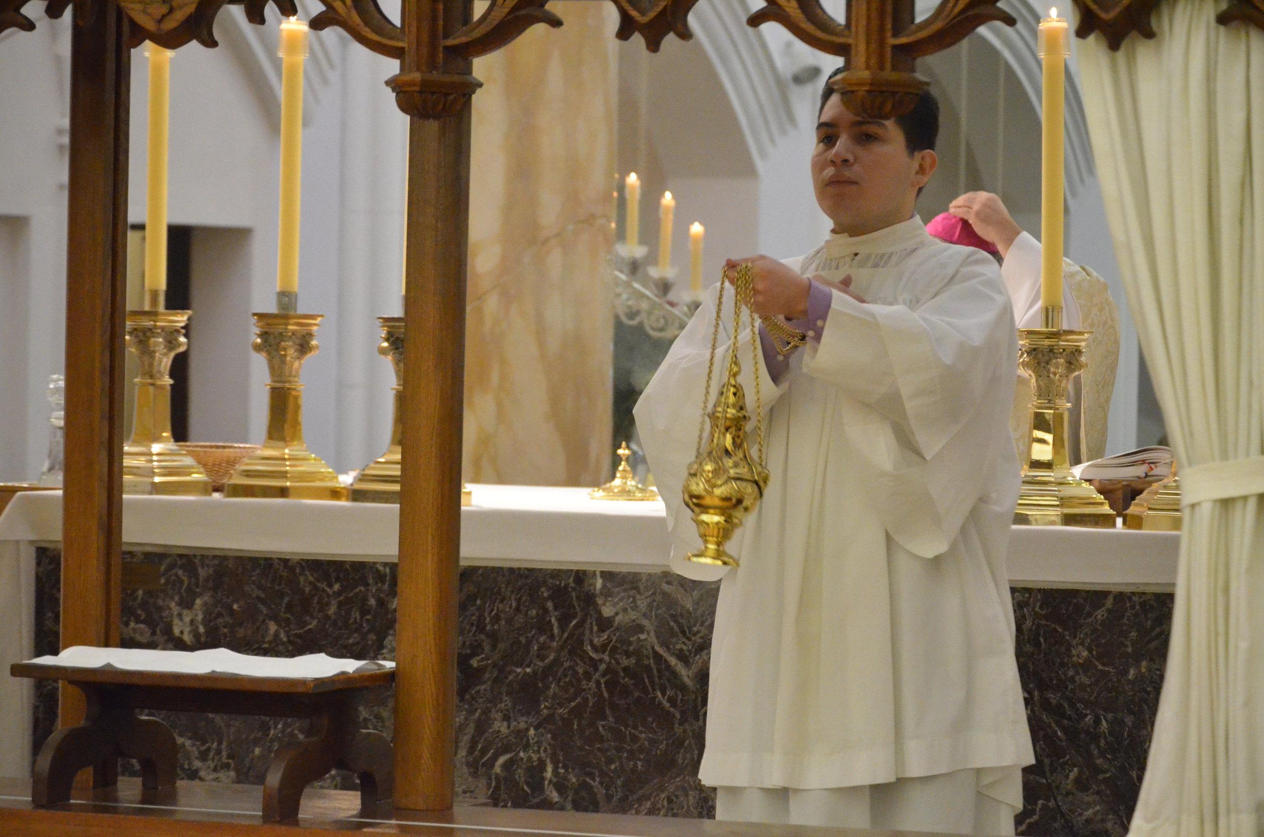 Luis incenses the nuns