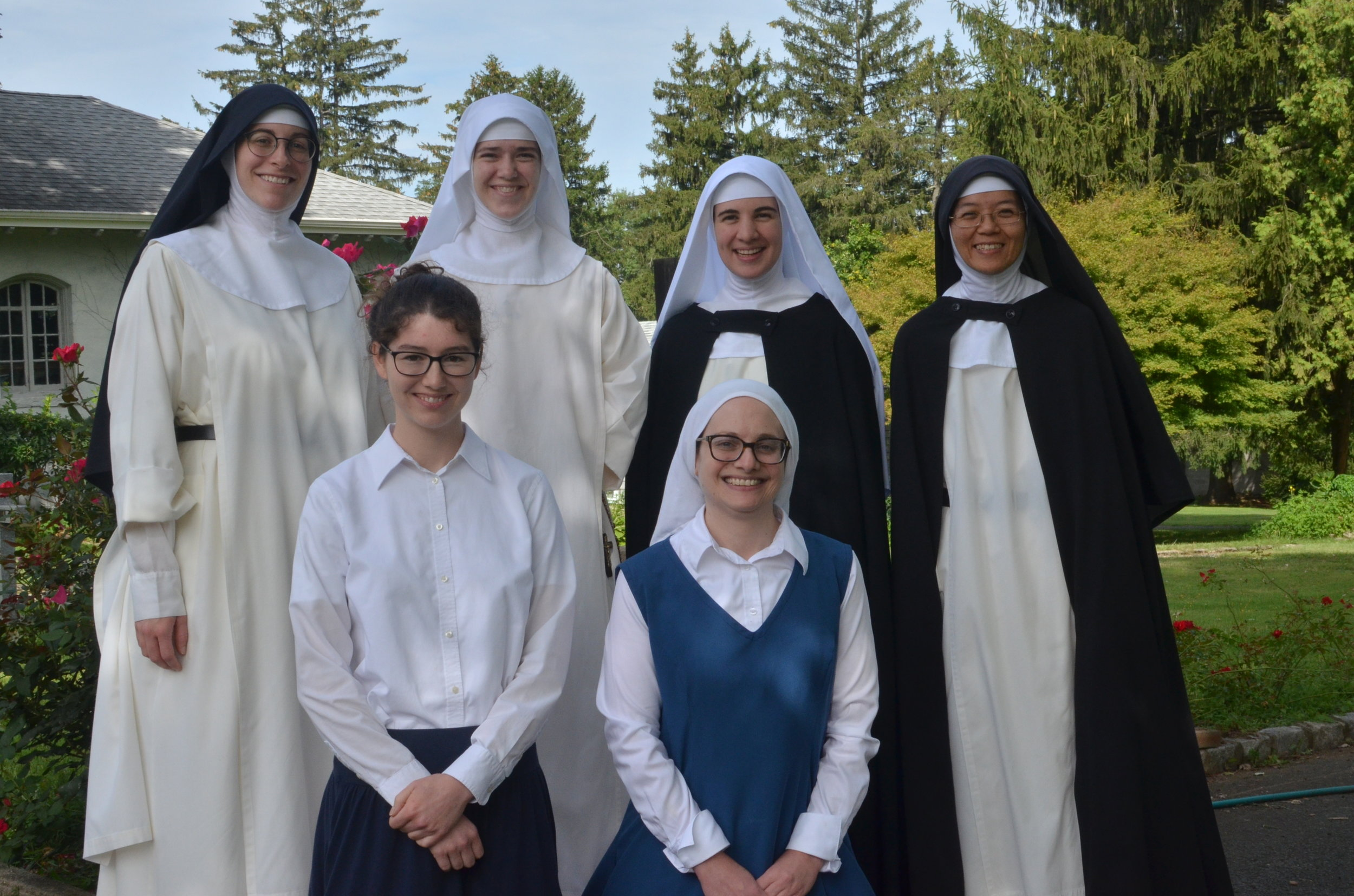 The novitiate with their novice mistress.