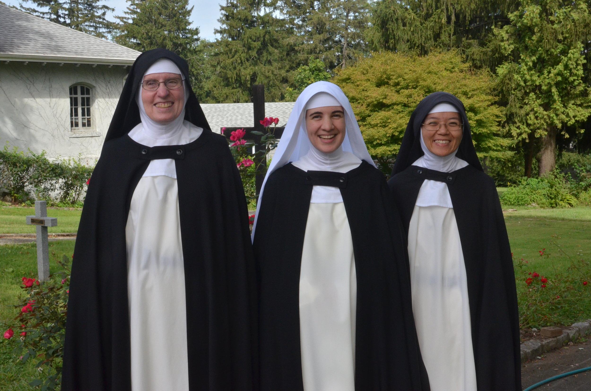 With Sr. Mary Martin, prioress and Sr. Joseph Maria, novice mistress