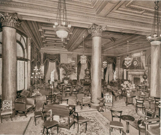 The cocktail lounge of the original Waldorf Astoria