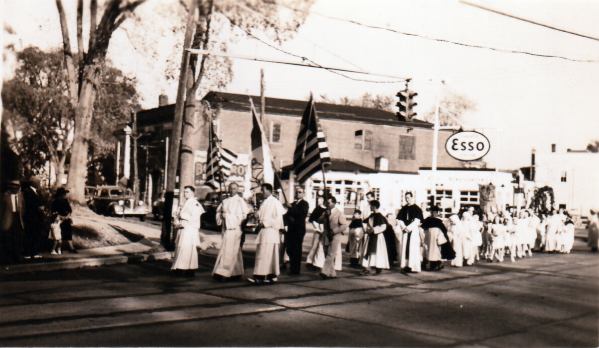 The front of the procession
