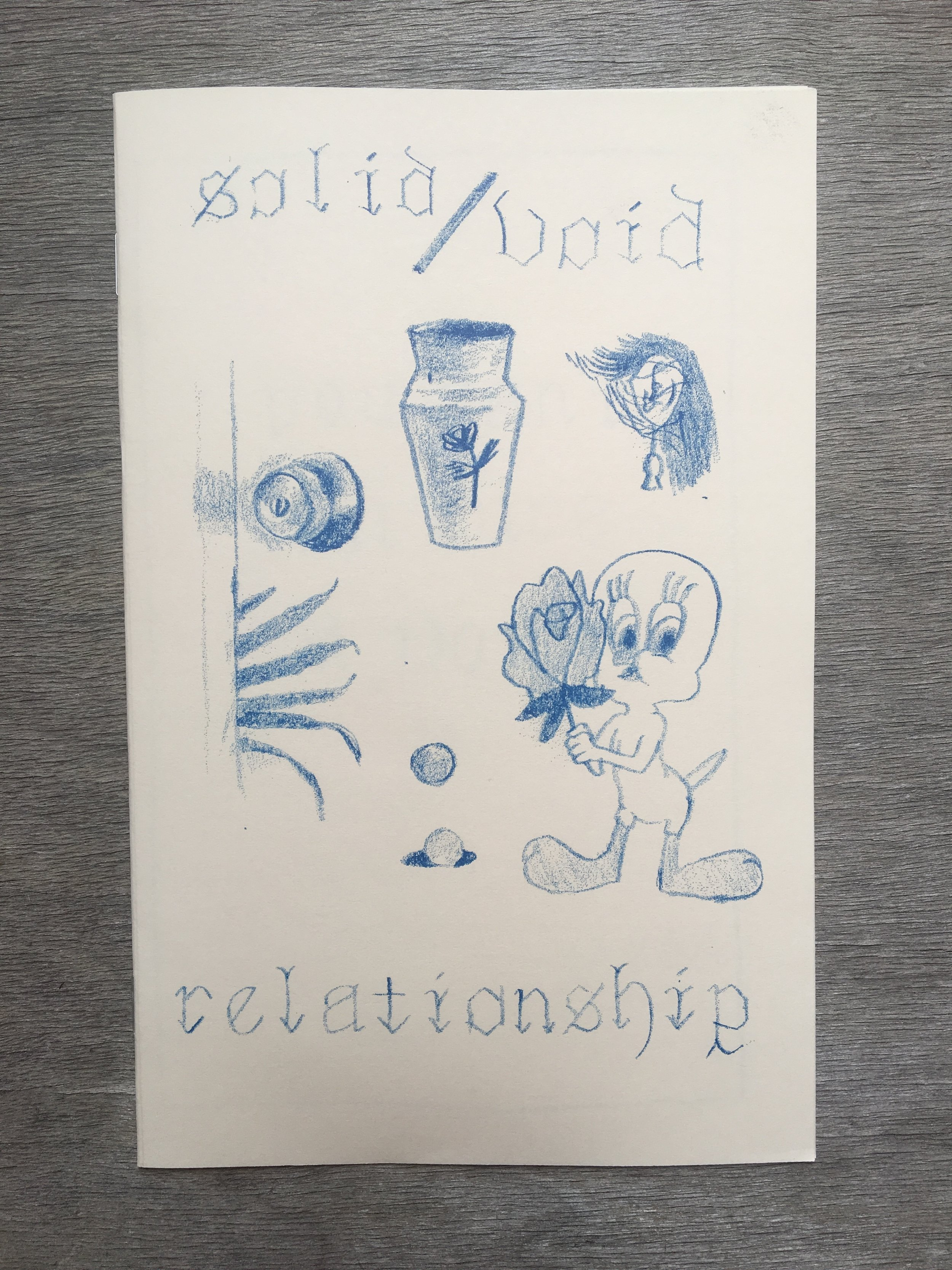 "Solid / Void Relationship by Hatepaste - Third Printing8 pg4.5"" x 5.5""Edition of 502018"
