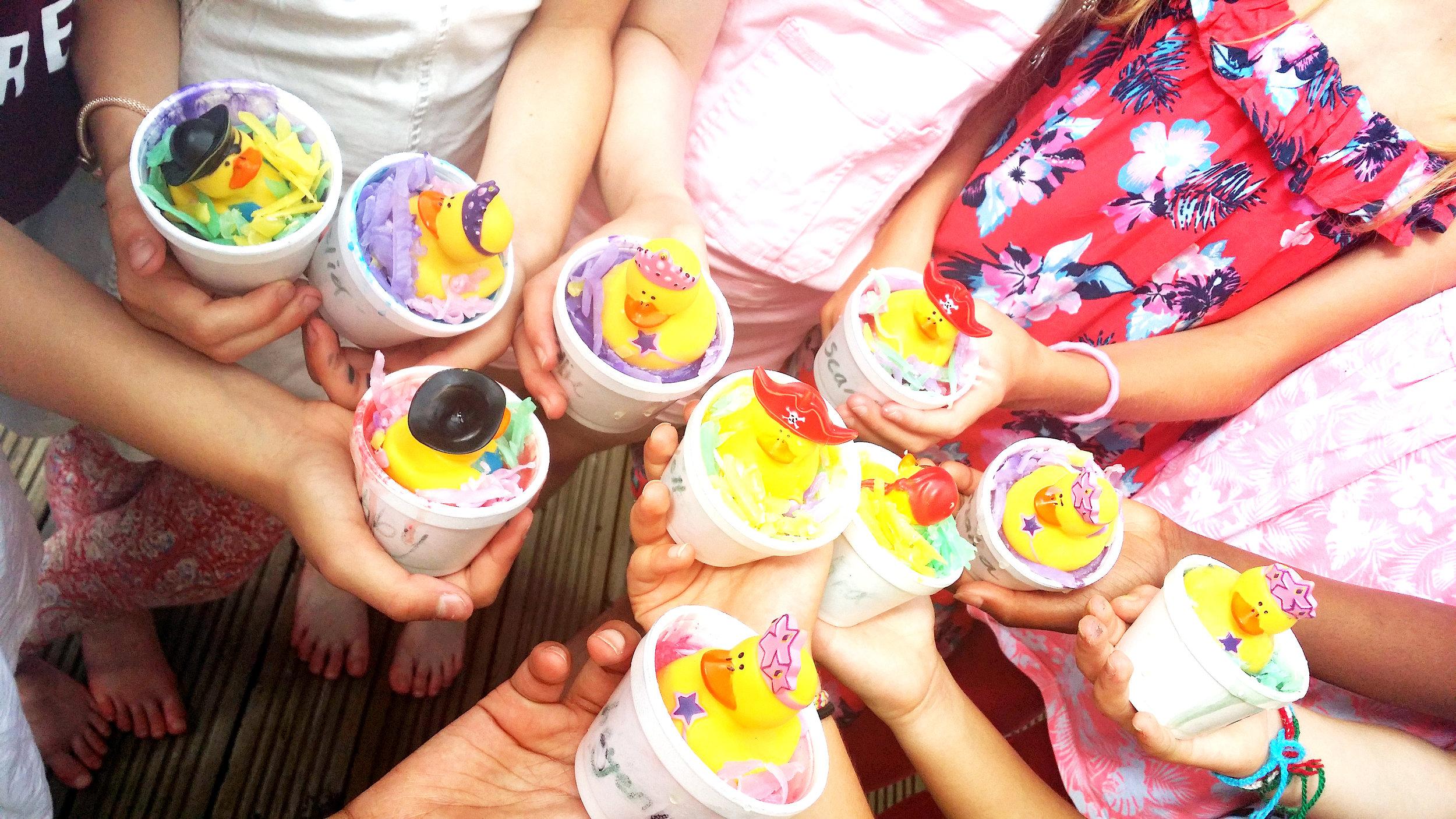 girls holding soaps at Luvlybubbly