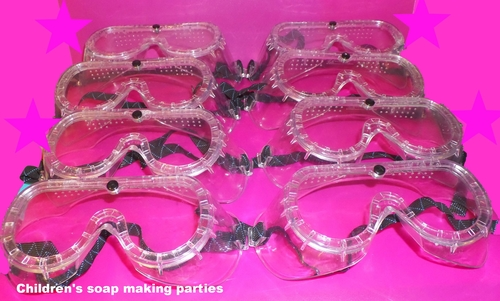 Copy of goggles children wear whilst making soap