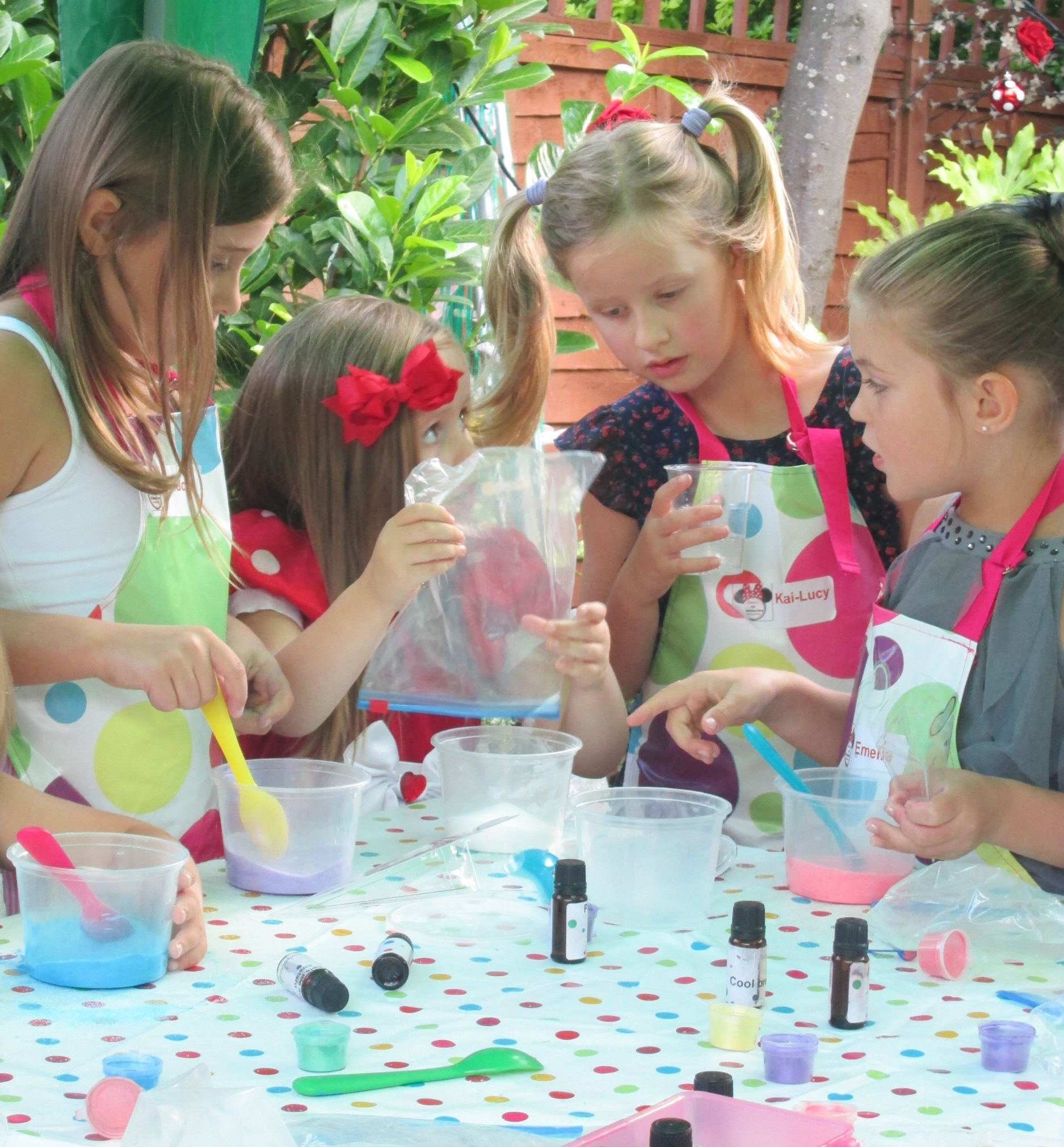 Copy of Children making spa products kids soap making parties