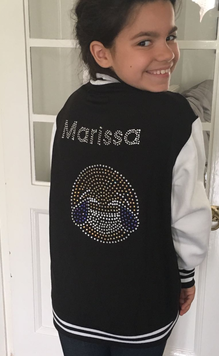 Girl posing in her fashion jackets