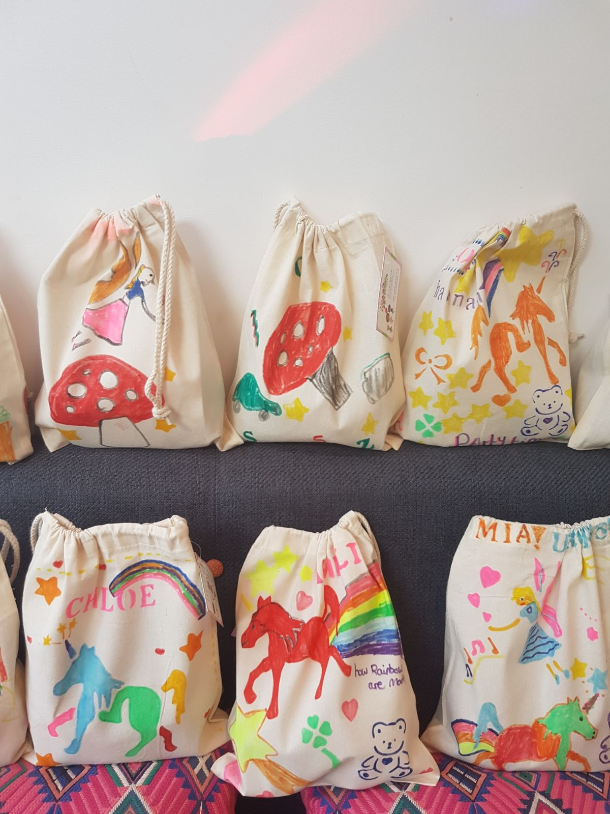 Girls cotton bags