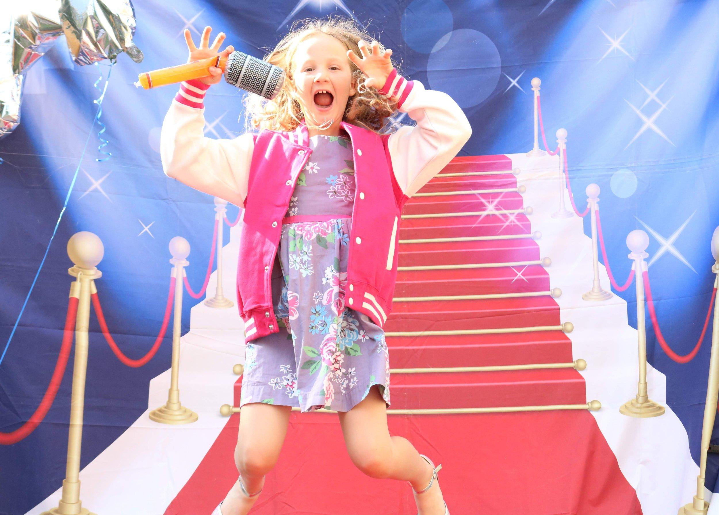 girl posing on the catwalk