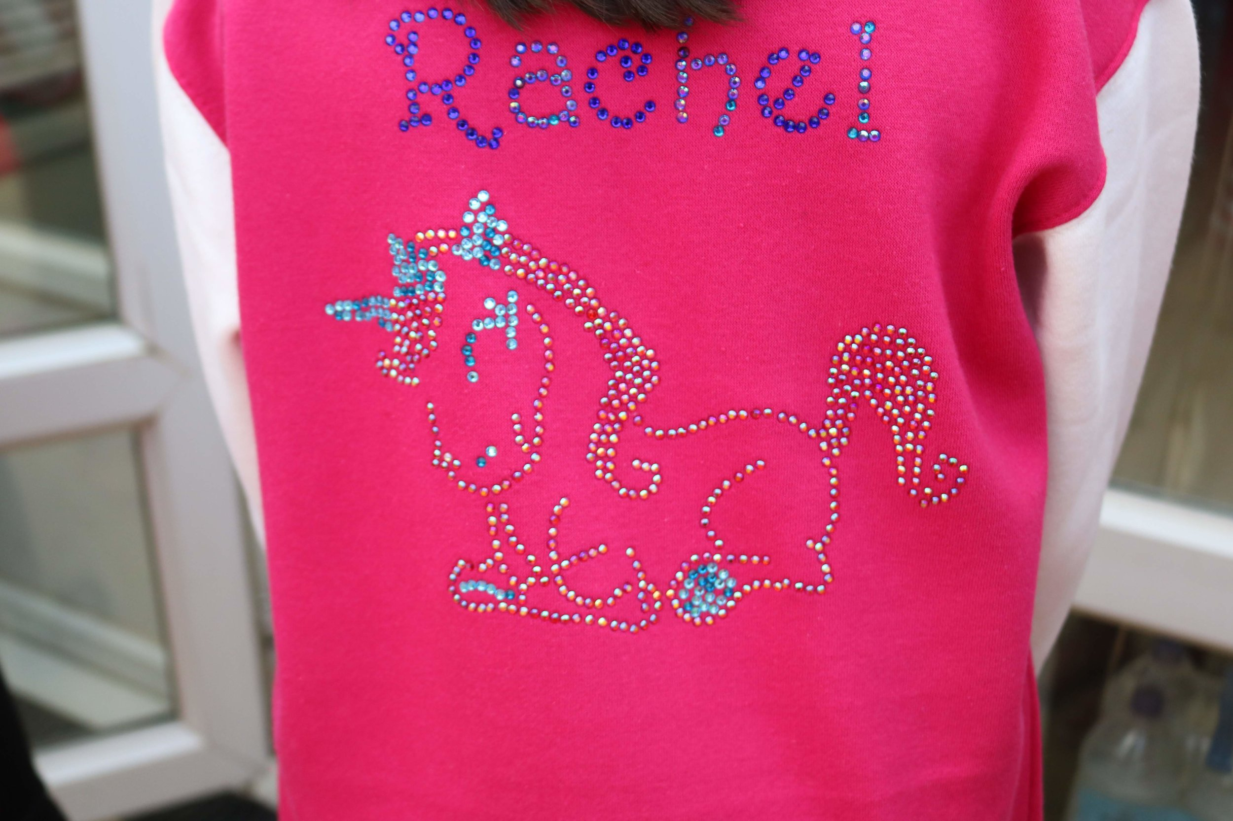 Beautiful rhinestone jacket designed by Rachel
