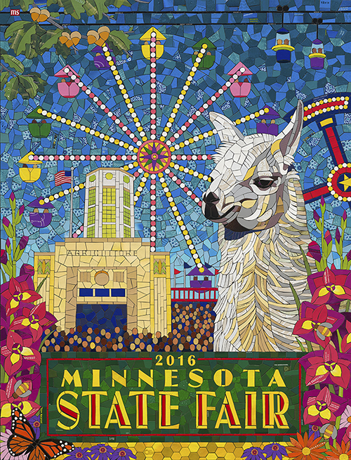 Lucky the Llama | 2016 Minnesota State Fair Commemorative Art