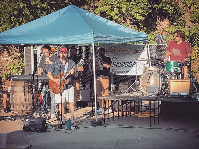 Fun in the sun @deutschtownmusic yesterday! Thanks to all who came out for a lovely evening. See you in August @bakerysquarepgh  #hornsection #bass #guitar #bassguitar #drums #percussion #piano #keyboard #vocals #trumpet #saxophone #harmonies #pittsburgh #pittsburghmusic #pittsburghmusicscene #412 #localmusic #livemusic #rockpop #music #recording #newalbum @bachbrass @zildijiancompany @jim.stinnett.bass @yamahamusicusa @paistecymbals @shure @wyeppgh @pittsburghmusicscene @pghcitypaper