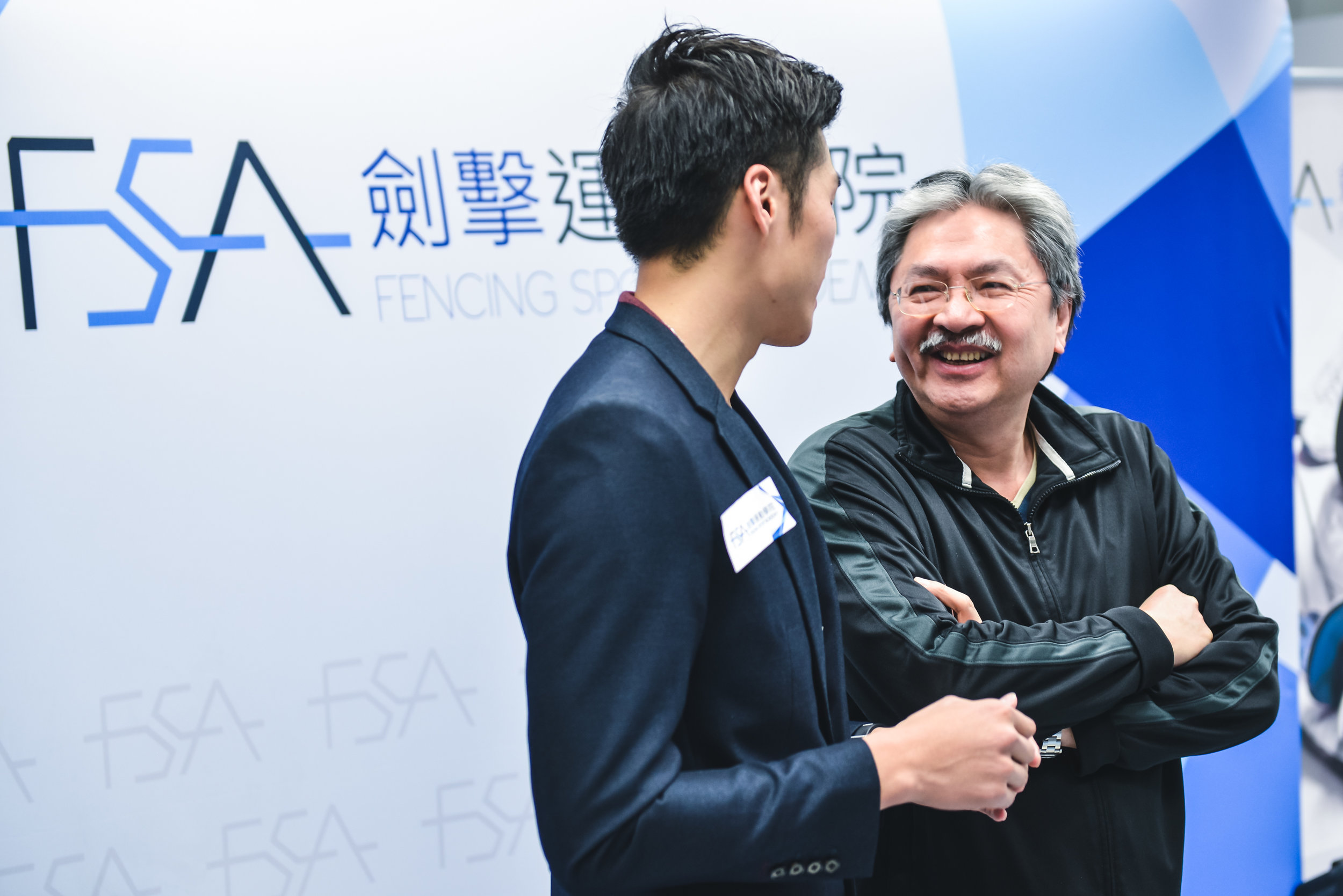 John Tsang (曾俊華)  at the Fencing Sport Academy Opening on 2013 Dec