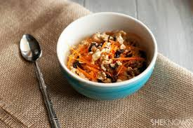 Healthy Carrot Cake Oatmeal  Adapted recipe from MindBodyGreen, by  Sally O'Neil  January 20, 2015 5:15 AM
