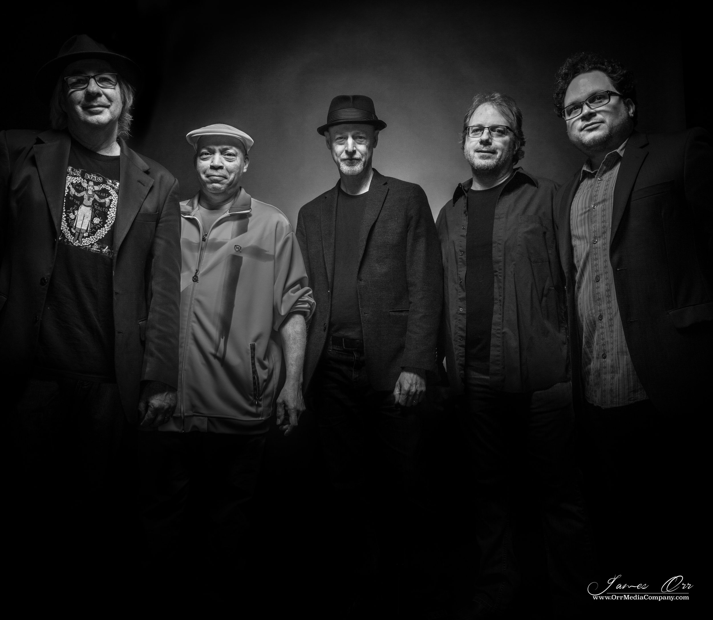 L to R: Mike Kelley, Carlos Valdez, Todd Nelson, Kyle Esposito & Manuel Quintana. Photo by James Orr