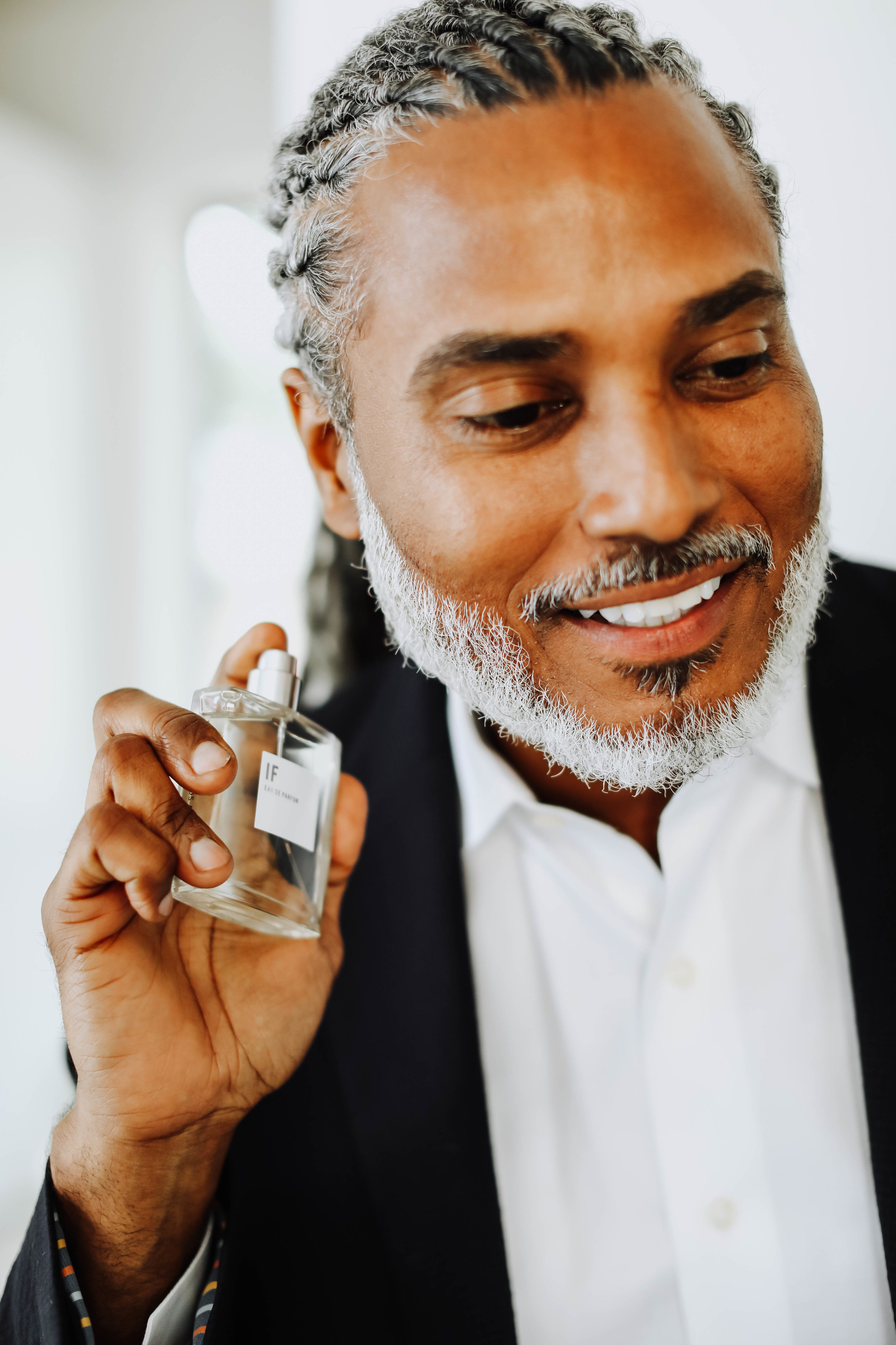 Image of model Eric Cedeno with the IF fragrance from Apothia LA