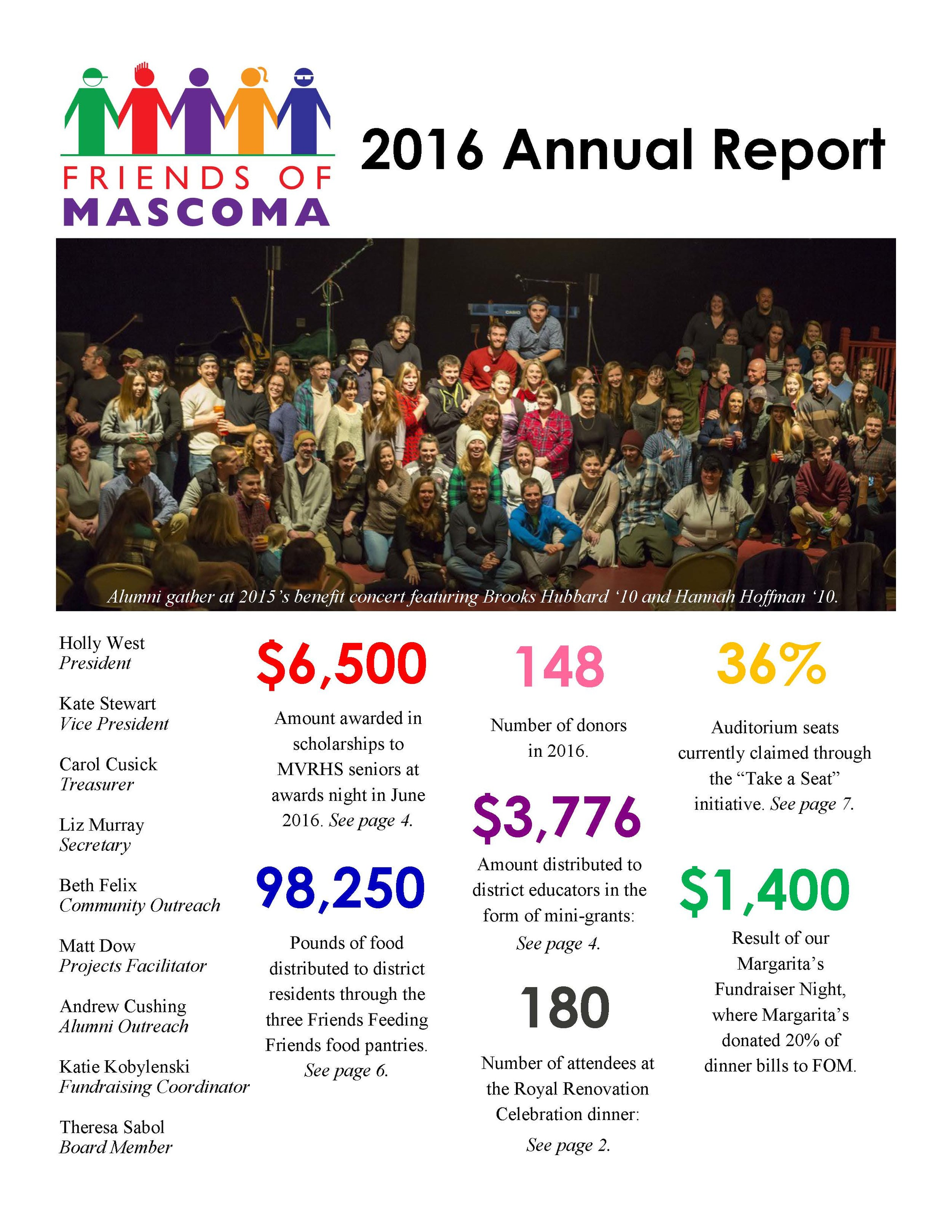 Last year was an exciting and productive year for Friends of Mascoma Foundation. We are excited to share our 2016 newsletter with you, please click the image above to see our full newsletter.
