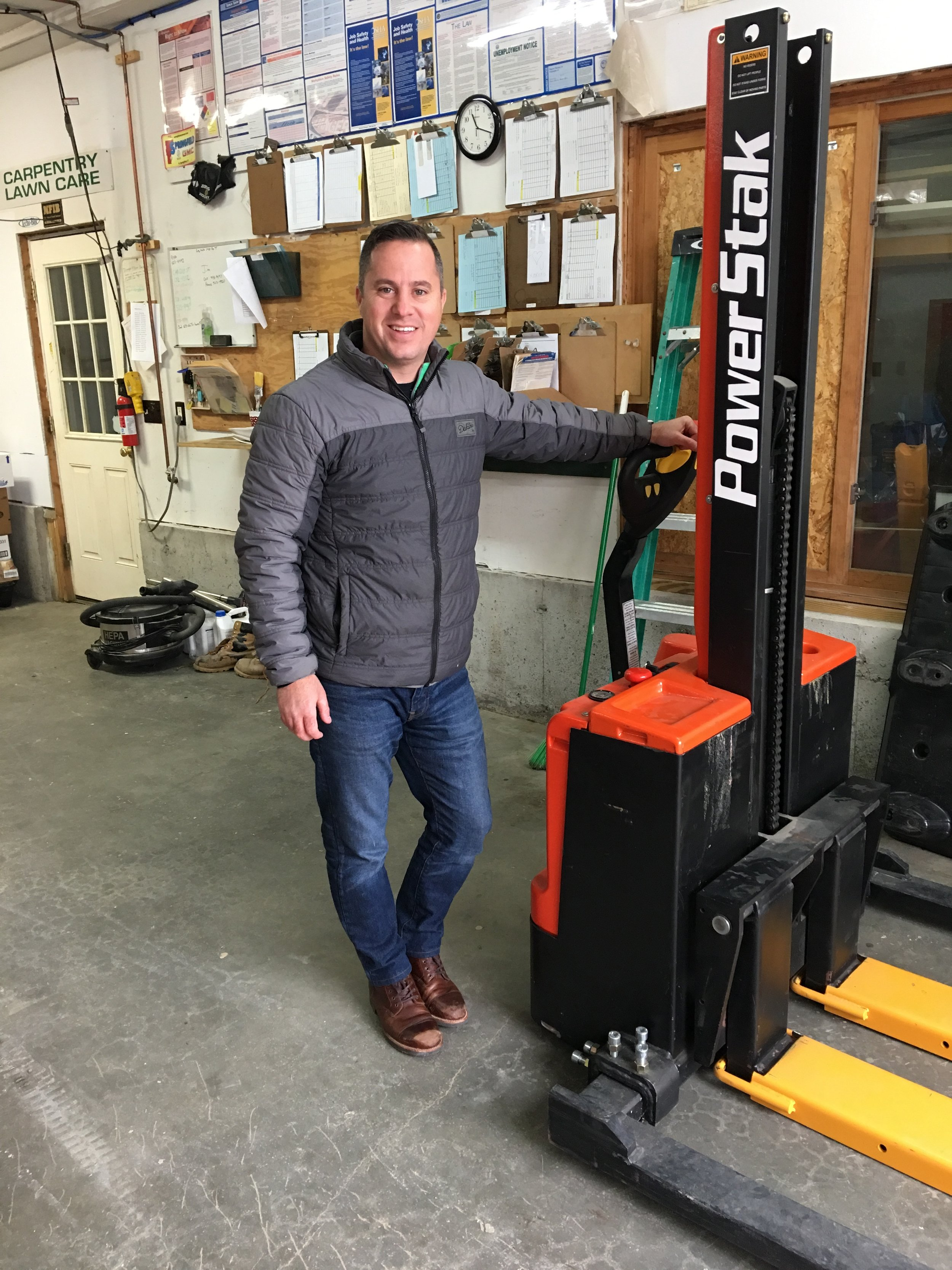 It's official! We now have a SUPER Canaan Pantry Distribution Center thanks to Matt and Becky Dow of MTD Property Maintenance and Construction. Pictured here is Ryan Porter, a volunteer from Enfield who just finished operating our new forklift, thanks to a generous donor. Come and visit us! We would love to show you our new space.