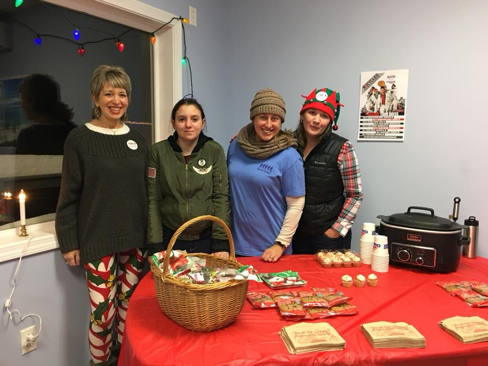 Pictures are Carolyn Cusick , Kat Mc Dermott, our 10th Grade MVRHS student intern, Kate Stewart and Theresa Sabol.  A fun community event!