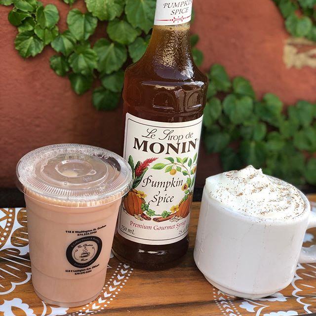 Pumpkins Spice Latte! Here 12 months a year! #gatewaymile #citywithaheart #latteart #elkhart #latte #pumpkinspice