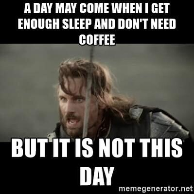 Who can agree with this today? #elkhart #coffee #coffeehouse #nottoday