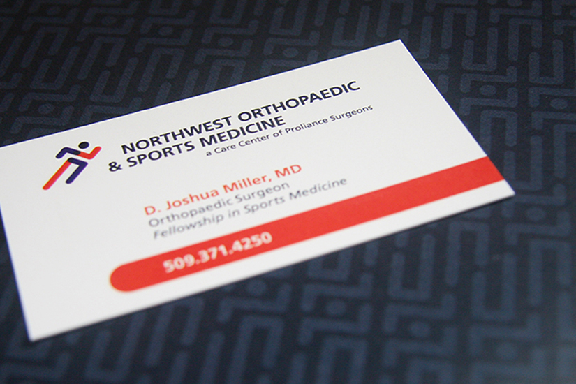 Northwest Orthopaedic & Sports Medicine Identity    An improved logo and identity system ensures that the NOSM brand reflects it's physicians and their aesthetic.