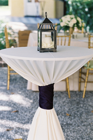 Lantern filled with Rose Petals & Candle