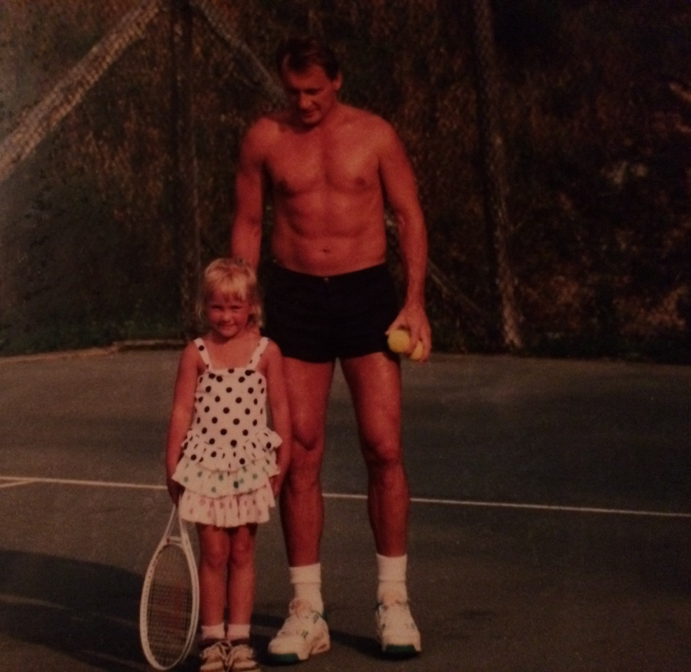 Dressed myself, as always. My dad also liked his shorts.