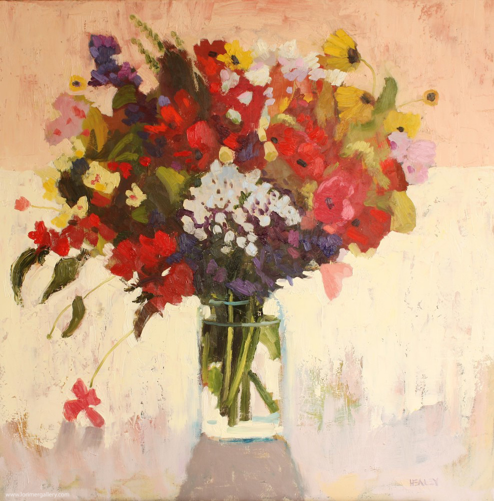 """Flowers and Light (30"""" x 30"""")"""