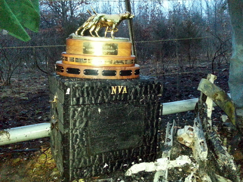 Trophy that was almost destroyed in Gingrich's motorhome fire