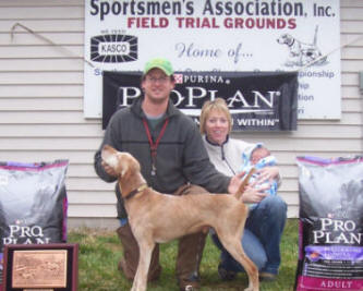"NAFC ""Pappy"" with Dustin Ochs, Amy Vogt & 140day old Kager Wade Ochs"