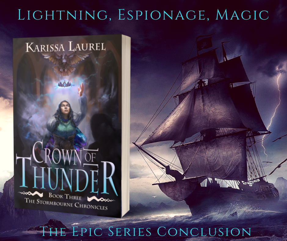 Lightning, espionage, and magic—Inselgrau's fate lies in the hands of one thunder goddess with a heart of iron, one exiled spy, and one Magician haunted by chronic pain..png